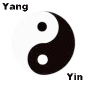 Yin and Yang represented by Black and White